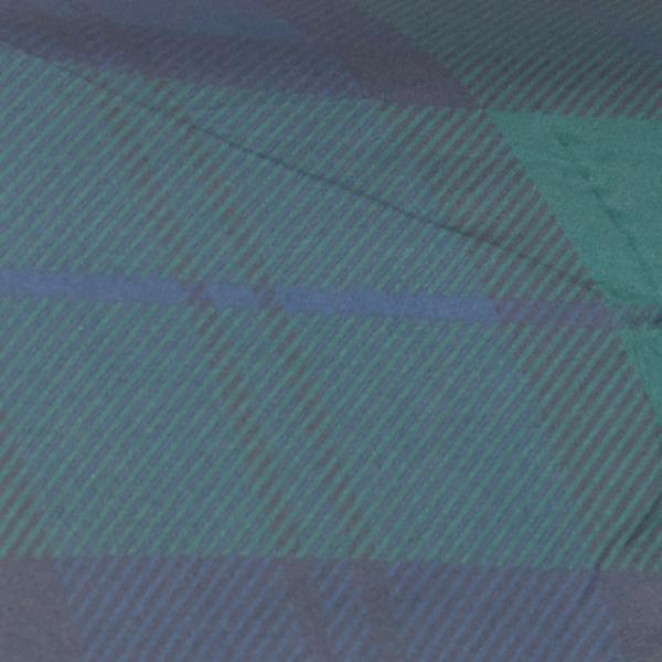 Barbour Tartan Mini Umbrella Navy Tartan Print
