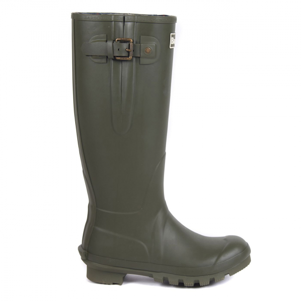 Barbour Womens Amble Wellington Boot Olive