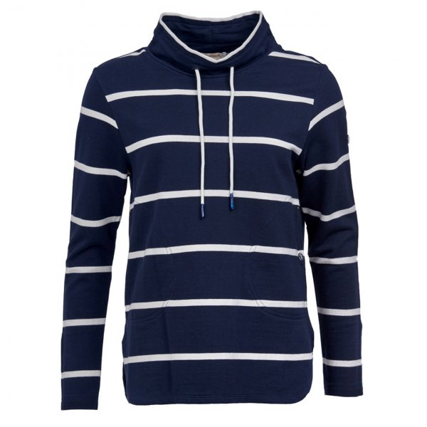 Barbour Womens Coastal Overlay Sweatshirt Navy / White