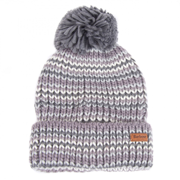 Barbour Womens Dene Pom Beanie Monochrome