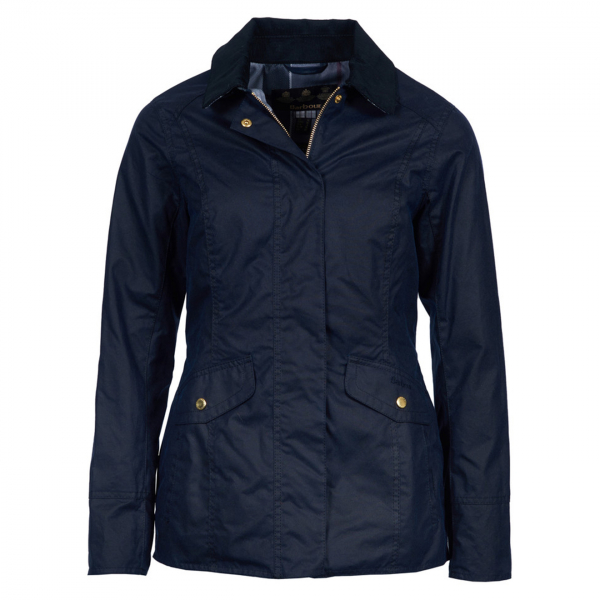 Barbour Womens Glen Wax Jacket Royal Navy