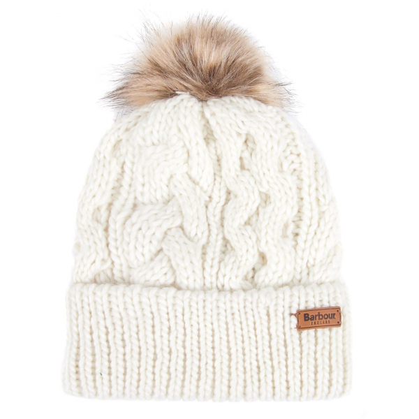 Barbour Womens Penshaw Beanie Hat Cloud