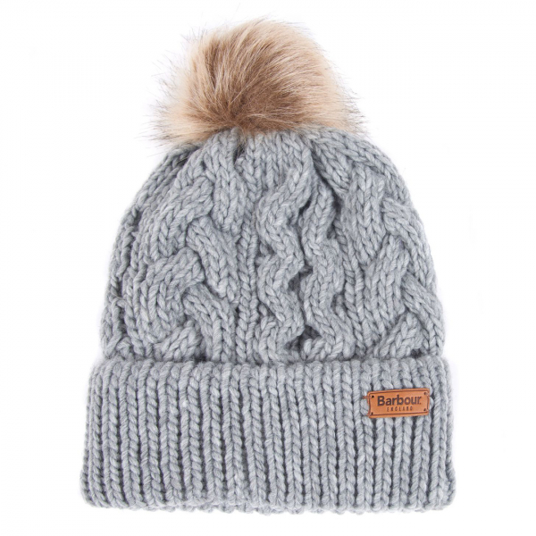 Barbour Womens Penshaw Beanie Hat Grey