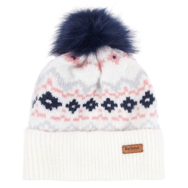 Barbour Womens Roseberry Beanie Hat Cloud