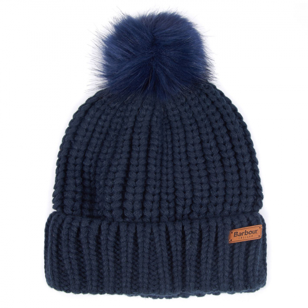 Barbour Womens Saltburn Beanie Navy