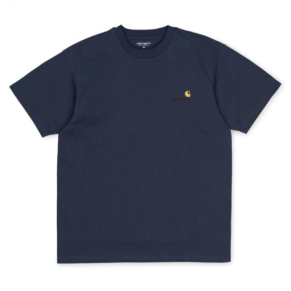 Carhartt American Script T-Shirt Blue