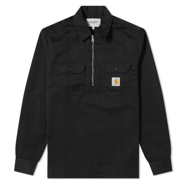 Carhartt Ilford Shirt Black Rinsed