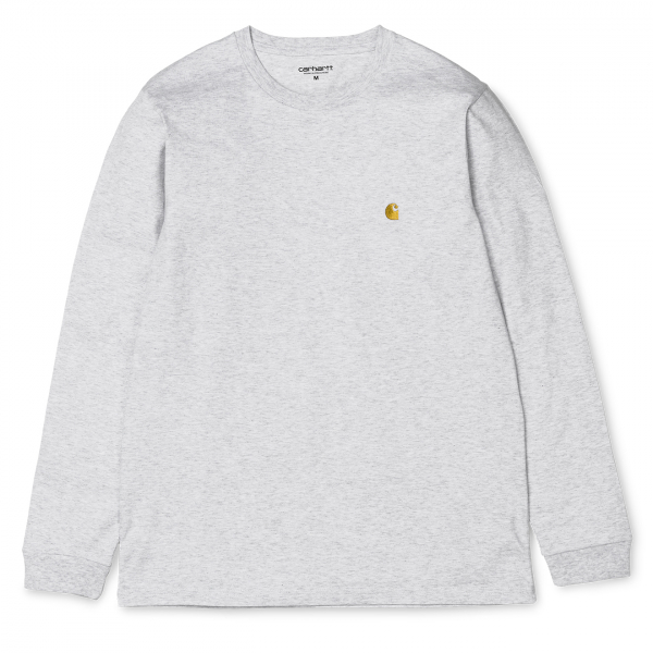 Carhartt L/S Chase T-Shirt Ash Heather / Gold