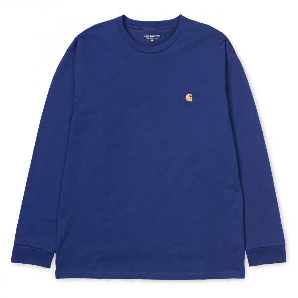 Carhartt L/S Chase T-Shirt Thunder Blue / Gold