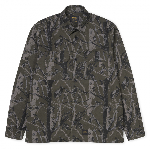 Carhartt Mission Shirt Camo Tree Green Rinsed