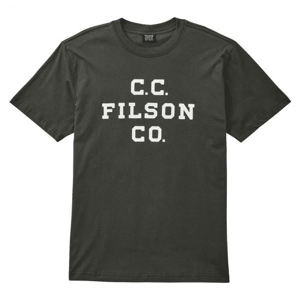 Filson Lightweight Outfitter T-Shirt Charcoal