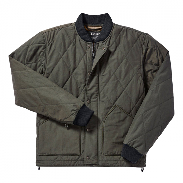 Filson Quilted Pack Jacket Dark Otter Green