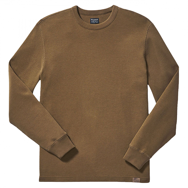 Filson Waffle Knit Thermal Crew Neck L/S Top Olive