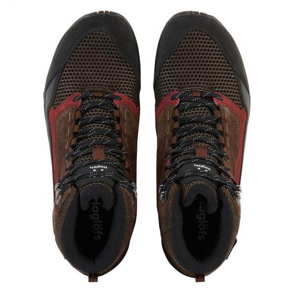 Haglofs Skuta Mid Proof Eco Walking Boot Barque / Maroon Red