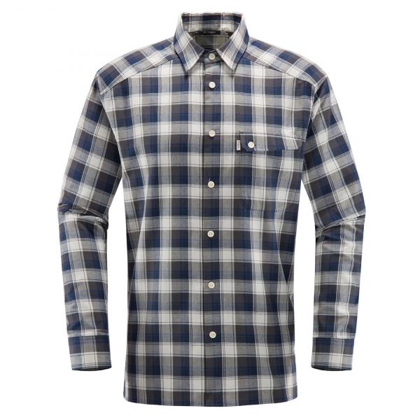 Haglofs Tarn Flannell Shirt Magnetite / Cobalt Blue