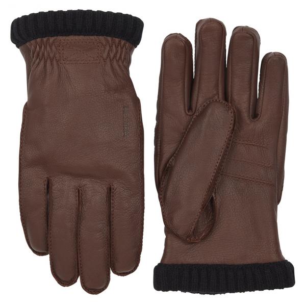 Hestra Deerskin Primaloft Rib Glove Chocolate