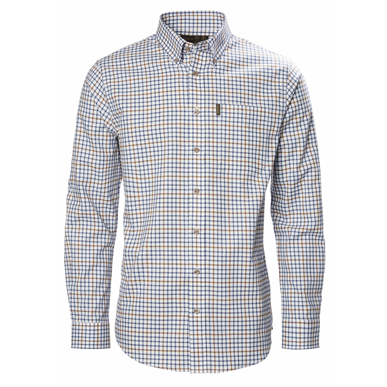 Musto Classic Twill Shirt Cairngorms Check Royal Blue