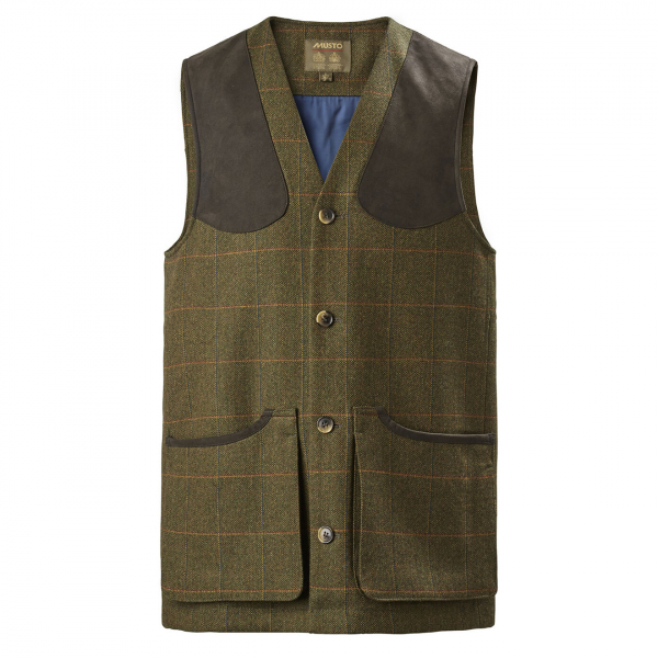 Musto Lightweight Machine Washable Tweed Waistcoat Balmoral