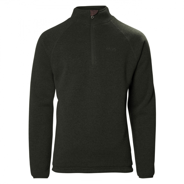 Musto Super Warm Polartec Windjammer Half Zip Fleece Forest Green