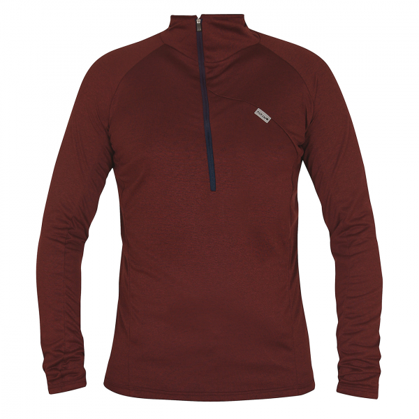 Paramo Tempro Zip Neck Sweat Wine Marl