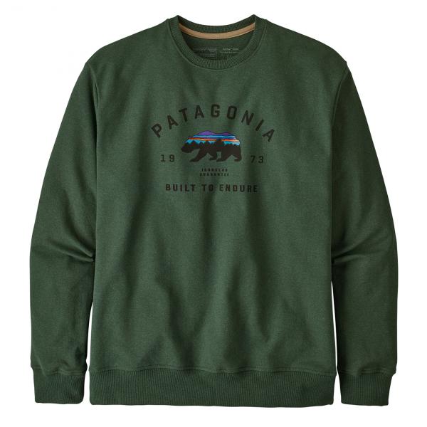 Patagonia Arched Fitz Roy Bear Uprisal Crew Sweatshirt Alder Green
