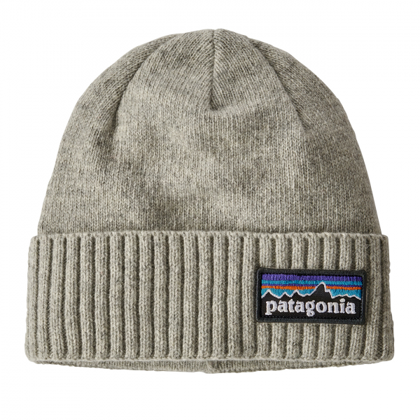 Patagonia Brodeo Beanie Hat P-6 Logo / Drifter Grey