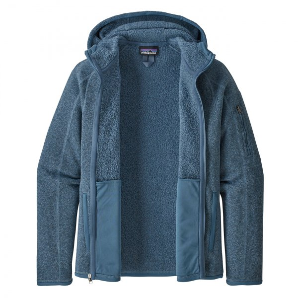 Patagonia Womens Better Sweater Hoody Woolly Blue