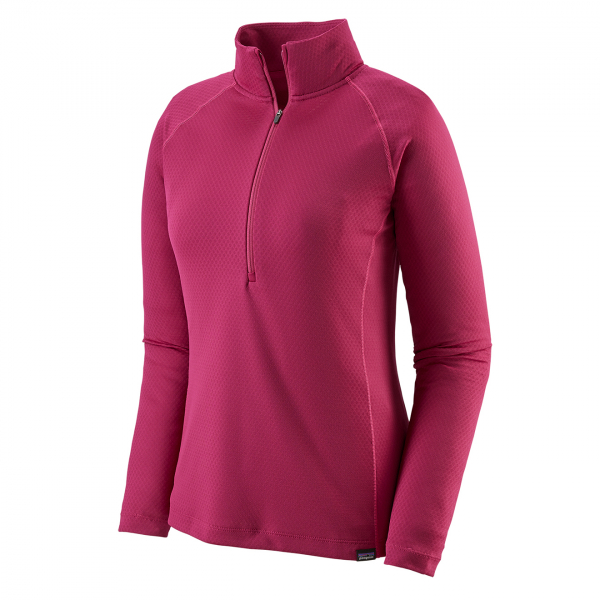Patagonia Womens Capilene Midweight Zip Neck Base Layer Craft Pink