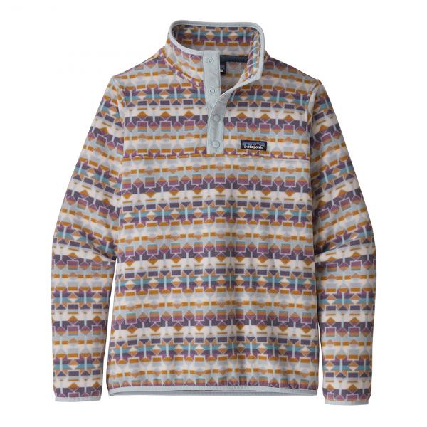 Patagonia Womens Micro D Snap-T Pullover Fleece Cedar Mesa / Tailored Grey