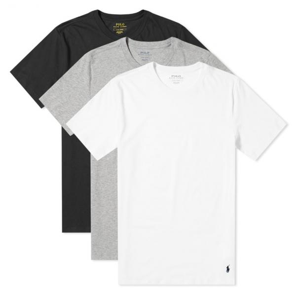 Polo Ralph Lauren 3 Pack T-Shirts Black Grey White