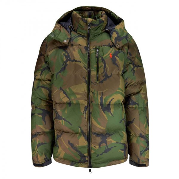 Polo Ralph Lauren Camo Down Jacket Green Camo