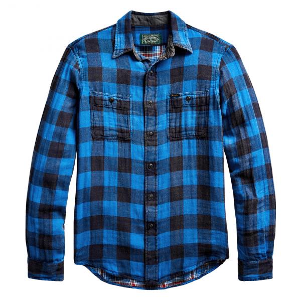 Polo Ralph Lauren Check Custom Fit Shirt Blue