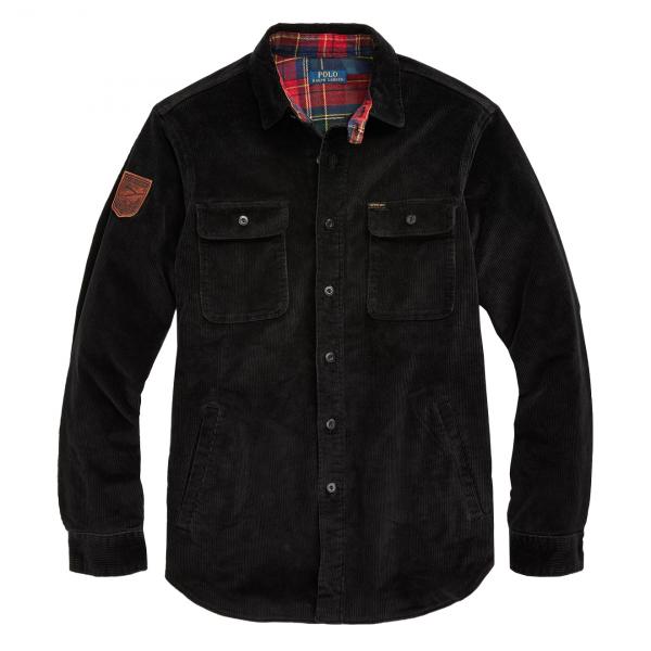 Polo Ralph Lauren Classic Fit Corduroy Work Shirt Black