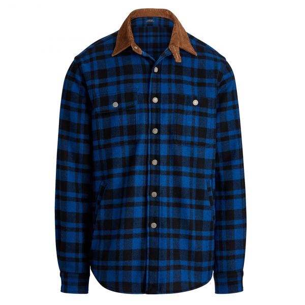 Polo Ralph Lauren Cord Collar Flannel Shirt Royal Multi