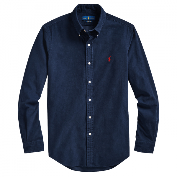 Polo Ralph Lauren Corduroy Shirt Slim Fit Navy