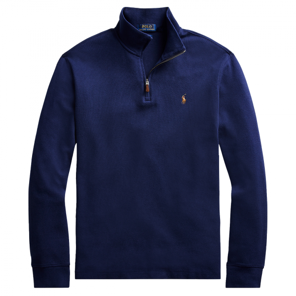 Polo Ralph Lauren Estate Rib Cotton Pullover Sweat Cruise Navy