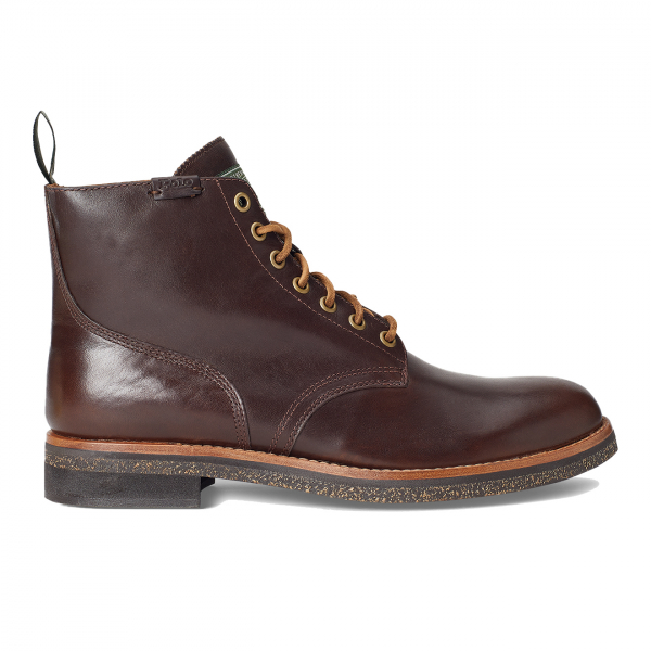 Polo Ralph Lauren Leather Army Boot Polo Brown