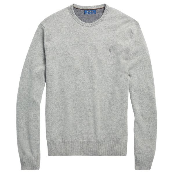 Polo Ralph Lauren Merino Wool Jumper Fawn Grey Heather