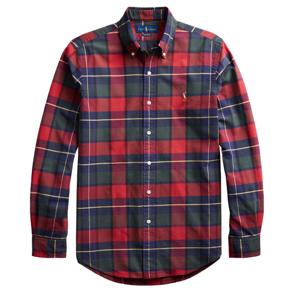 Polo Ralph Lauren Slim Fit Classic Check Shirt Red / Green