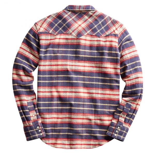 RRL by Ralph Lauren Buffalo Western Shirt Navy / Red