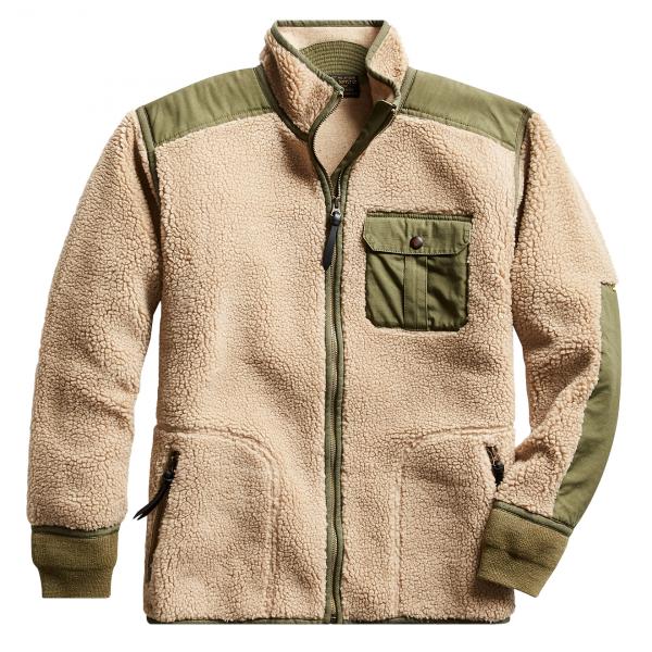 RRL by Ralph Lauren Sherpa Liner Fleece Jacket Mountain Cream