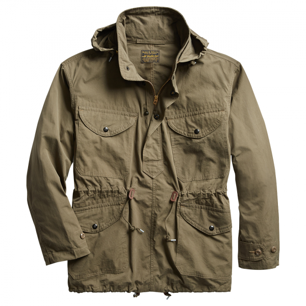RRL by Ralph Lauren Wallace Popover Jacket Garment Wash Olive