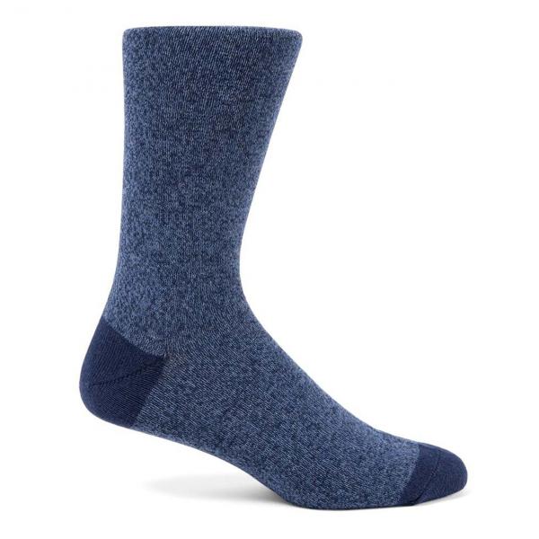 Sunspel Organic Cotton Sock Blue Marl