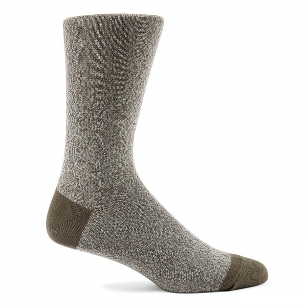 Sunspel Cotton Sock Khaki Grey & Argent