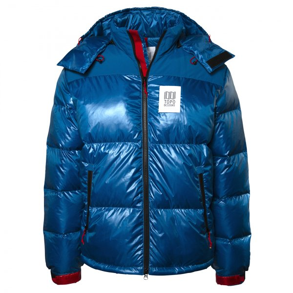 Topo Designs Big Puffer Jacket Blue