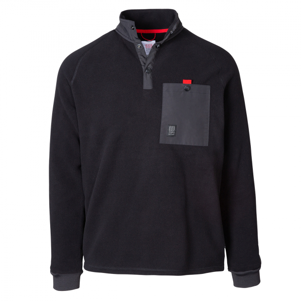 Topo Designs Mountain Fleece Black