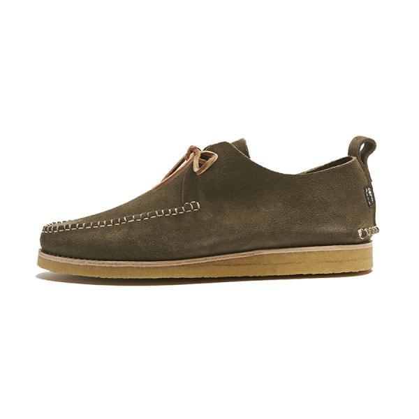 Yogi Lawson Suede Moccasin Shoe Olive