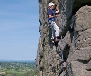 Alan Hinkes Rock Climbing
