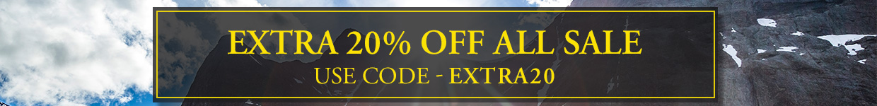 Extra 20% off sale - Use Code EXTRA20
