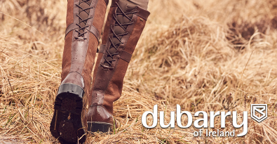 Walking Through Hay Wearing Brown Lace-up Dubarry BootsDubarry at The Sporting Lodge